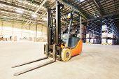 image of pallet  - forklift loader pallet stacker truck equipment at warehouse - JPG