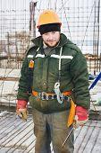picture of concrete  - concrete worker - JPG