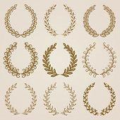 foto of medal  - Set of luxury golden labels - JPG