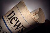 foto of newspaper  - newspaper title on black background - JPG