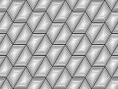 foto of zigzag  - Design seamless monochrome hexagon geometric pattern - JPG