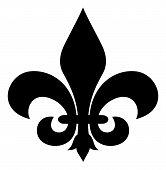 stock photo of fleur de lis  - Black silhouetted of Fleur - JPG