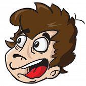 image of scared  - scared boy cartoon illustration - JPG