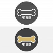 picture of petting  - Set of vintage and modern logo and elements for pet shop - JPG