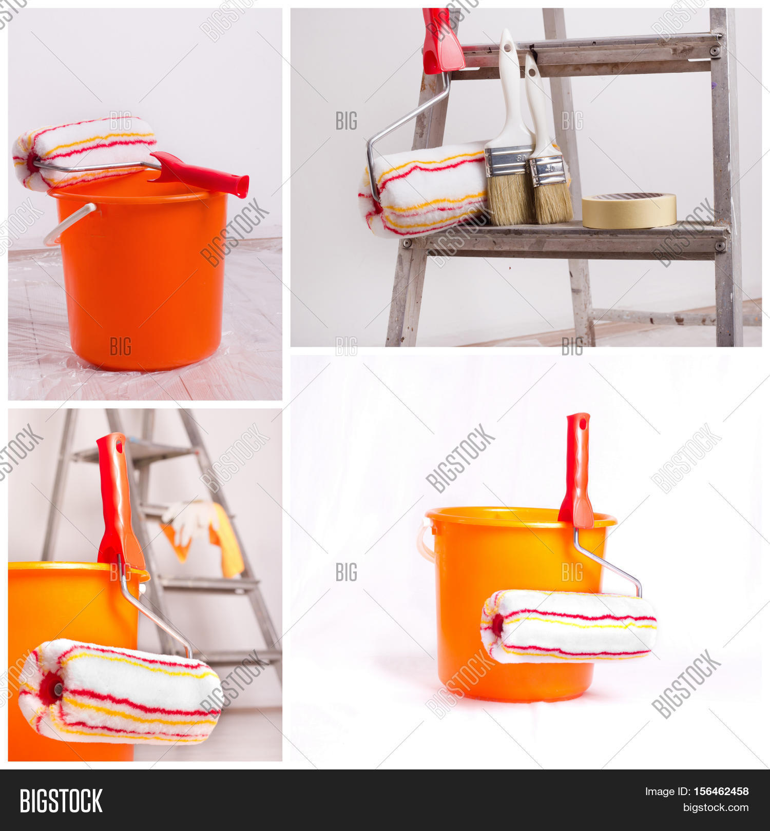 Wall Painting Equipment : Wall painting equipment image photo bigstock