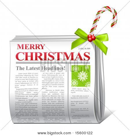 vector christmas greetings newspaper