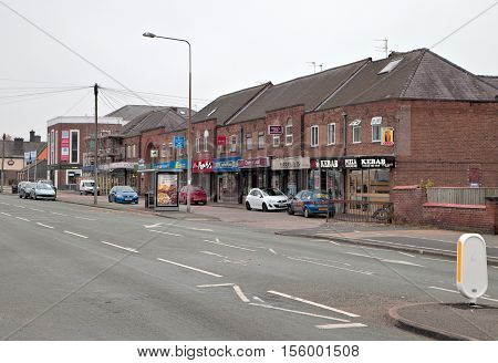 Chester Cheshire UK - October 30 2016: Christleton Road is one of main roads leading to Chester City Centre