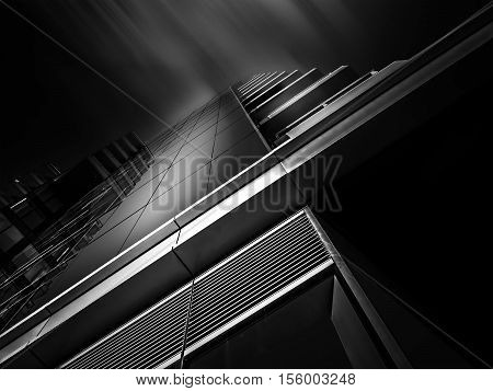 Highrise building with Louvers, Glass & Balcony