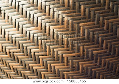Photo texture of the wicker chair, Wicker chair texture, Texture of wicker chair back rest in curve, Brown wicker chair texture