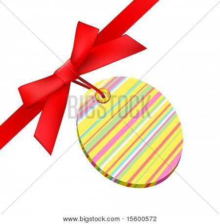 vector easter bow with tag