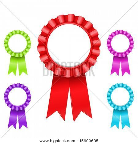 vector illustration of Award Rosette (only gradients)