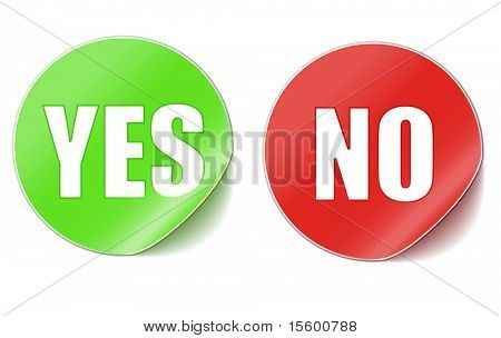 yes or no vector stickers
