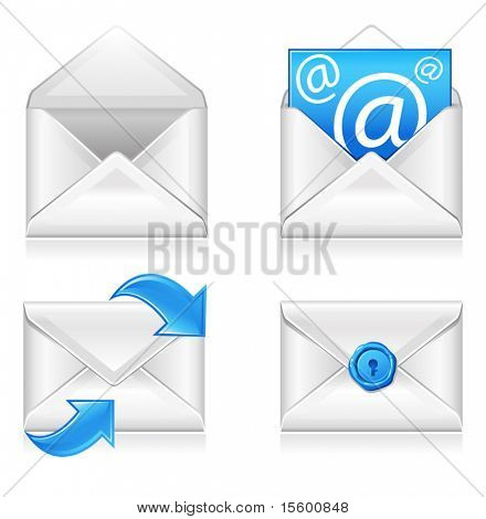 Vektor e-Mail Symbole set2