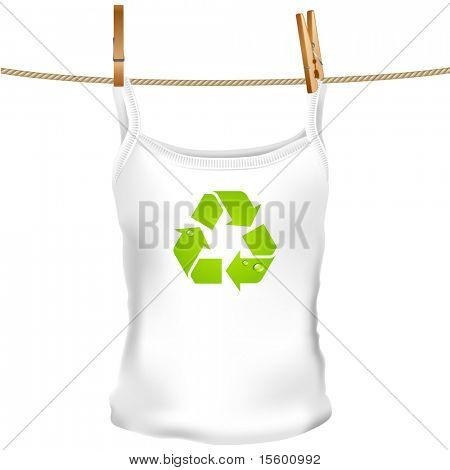 vector green top tank with recycling cycle