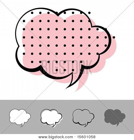 vector speech balloon