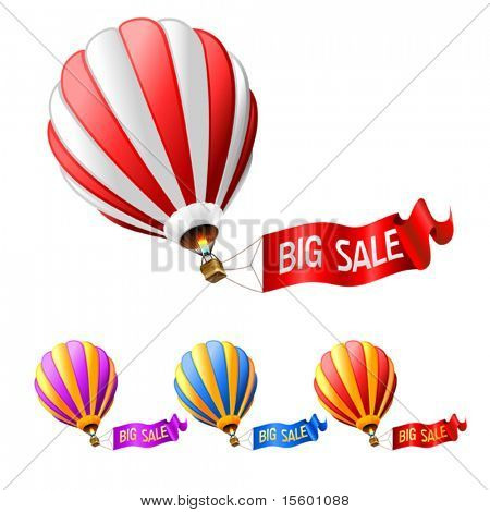 big sale hot air balloon sign
