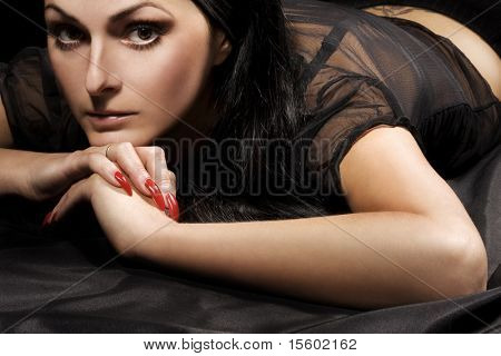 Portrait of woman with special fascination