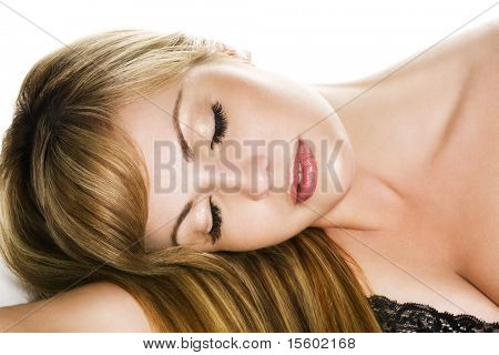 beautiful sleeping woman
