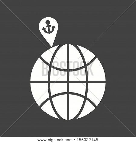 Vacation, beach, spot icon vector image. Can also be used for travel. Suitable for use on web apps, mobile apps and print media.