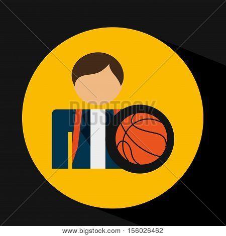 student uniform school basket ball design vector illustration eps 10