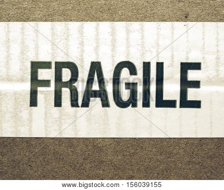 Vintage Looking Fragile