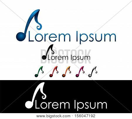 Musicians and music industry icon logo design