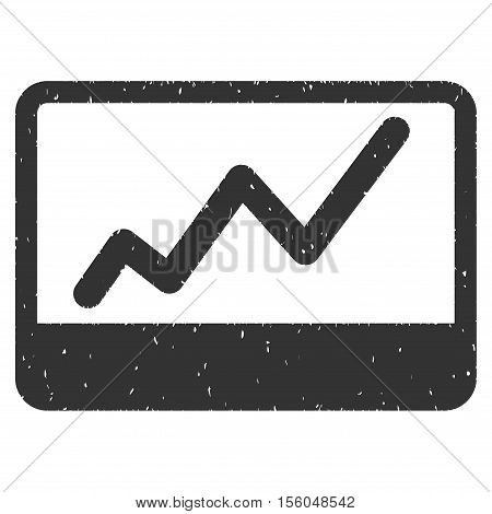Stock Market rubber seal stamp watermark. Icon vector symbol with grunge design and dirty texture. Scratched gray ink sign on a white background.