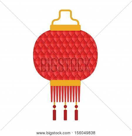 Chinese lantern vector isolated. Paper holiday celebrate graphic chinese lantern celebration traditional festival symbol. Luck tradition chinese lantern traditional festival ornament paper.