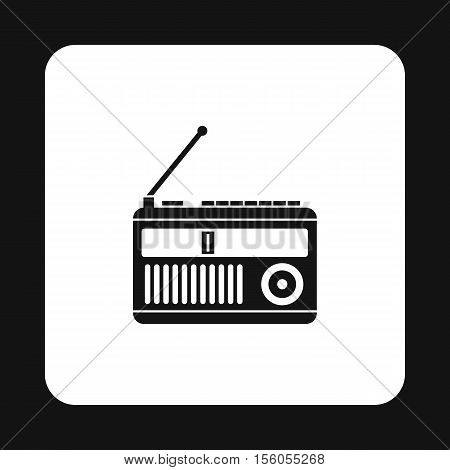 Radio receiver icon in simple style on a white background vector illustration