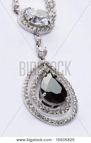 Pendant with black gem