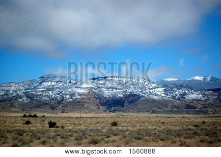 Snow Covered Mountains, New Mexico Planes
