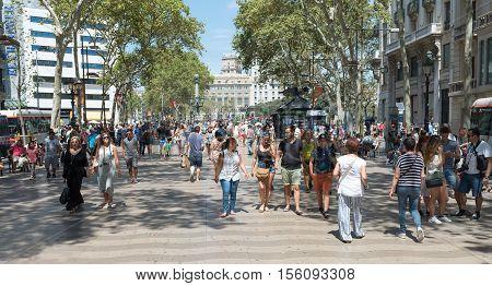 People Ion The Rambla - Spain