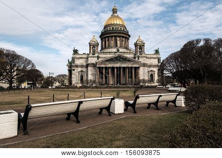 St. Petersburg, view of St. Isaac's Cathedral from the square