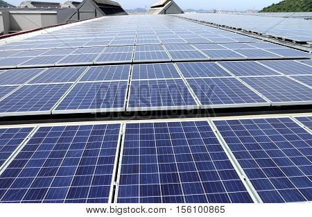 Large Scale Solar PV Panel Rooftop System