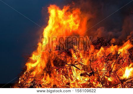 Easter fire, an old german traditon. It coms along with a big festival