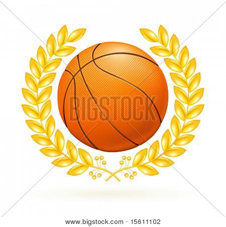 Basketball emblem, bitmap copy