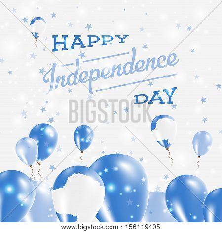 Antarctica Independence Day Patriotic Design. Balloons In National Colors Of The Country. Happy Inde