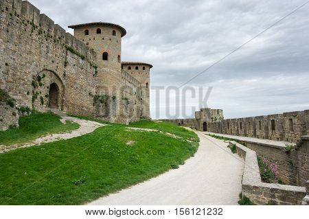 Medieval castle and city of Carcassonne Languedoc - Roussillon France