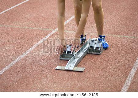 starting-block for taking hurdles