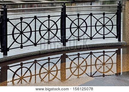 Beautiful curved iron railings on the promenade