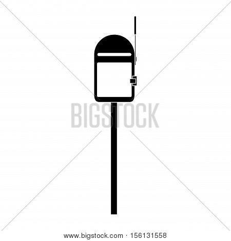 mailbox outdoor icon image vector illustration design
