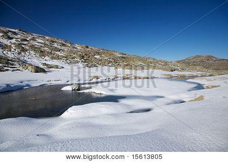 Ice River At Gredos