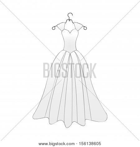 bride gown icon image vector illustration design