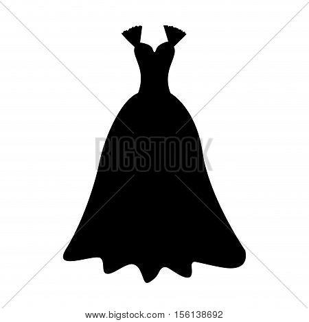 elegant gown icon image vector illustration design