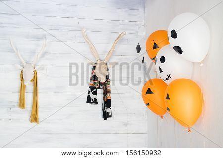 Deer head decoration for Halloween stock photo