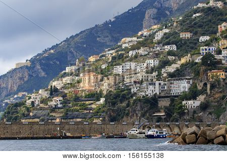 beautiful scenic of capri island important traveling destination in south italy