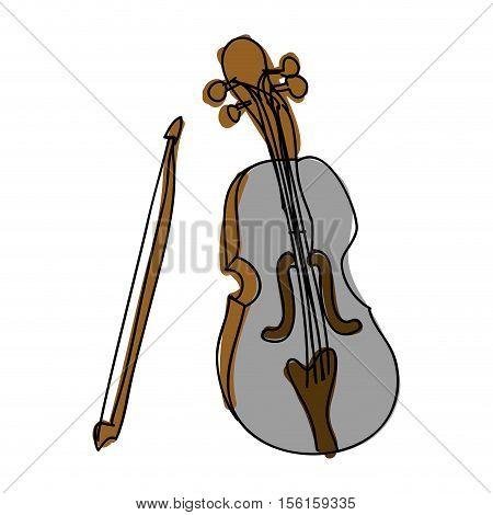 violin instrument icon image vector illustration design