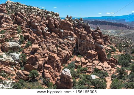 Rocks at Fiery Furnace in Arches National Park,  Utah
