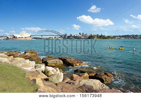 Sydney Harbour Skyline Sydney New South Wales Australia
