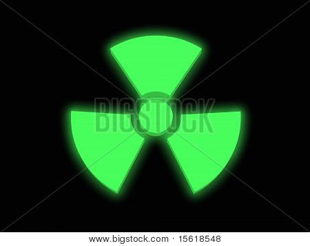 Green Glowing Radiaoactivitiy Sign